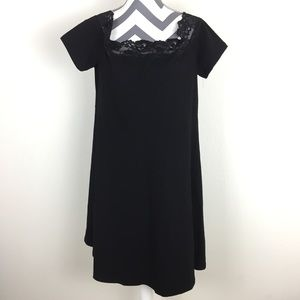 NWT Dorothy Perkins Black Lace Trim Dress Size 16